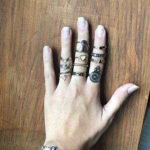 Urban Outfitters Assorted Stacking Rings sizes 6&7